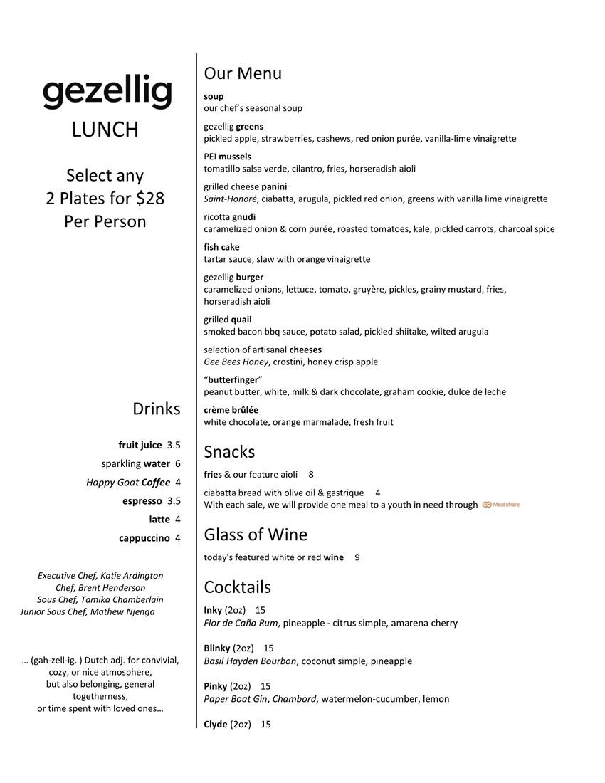 gezellig dining